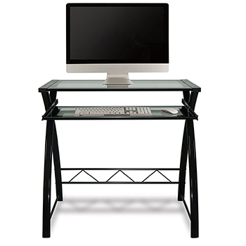 Bello CD8855 Computer Desk in High Gloss Black finish. Bello-CD8855