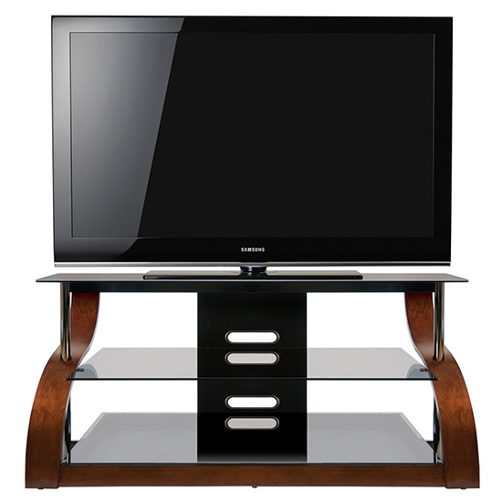 Bello Cw343 Curved Wood A V Furniture Tv Stand Up To 55 Tvs In