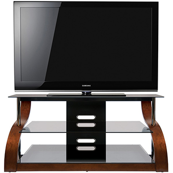 "Bello CW343 Curved Wood TV Stand up to 55"" TVs. Bello-CW343"