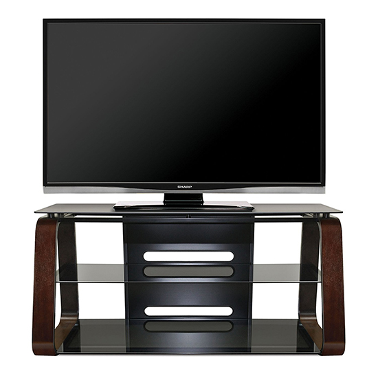 Bello Cw349 Curved Wood Tv Stand Up To 55 Tvs In Deep Espresso Finish