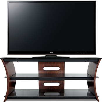 "Bello CW356 Curved Wood TV Stand up to 60"" TVs. Bello-CW356"