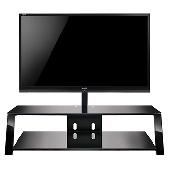 "Bello TP4463 TV Stand up to 70"" TVs in Black finish. Bello-TP4463"