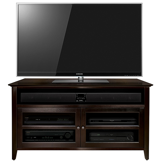 Bello WAVS99144 Wood TV Stand in Dark Espresso Finish up to 46