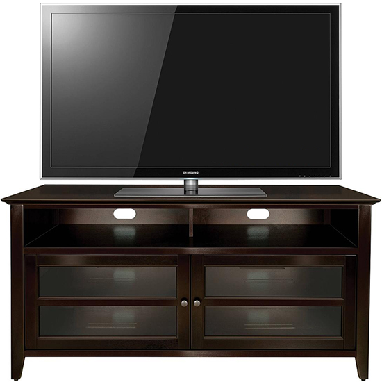 Bello WAVS99152 Wood TV Stand in Dark Espresso Finish up to 55