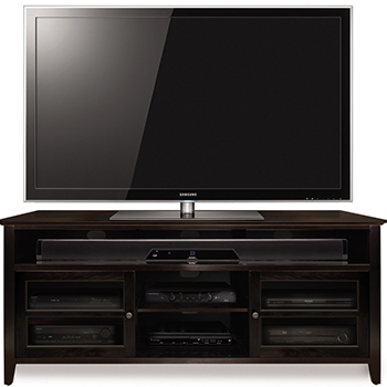 "Bello WAVS99163 Wood TV Stand in Dark Espresso Finish up to 65"" TVs. Bello-WAVS99163"