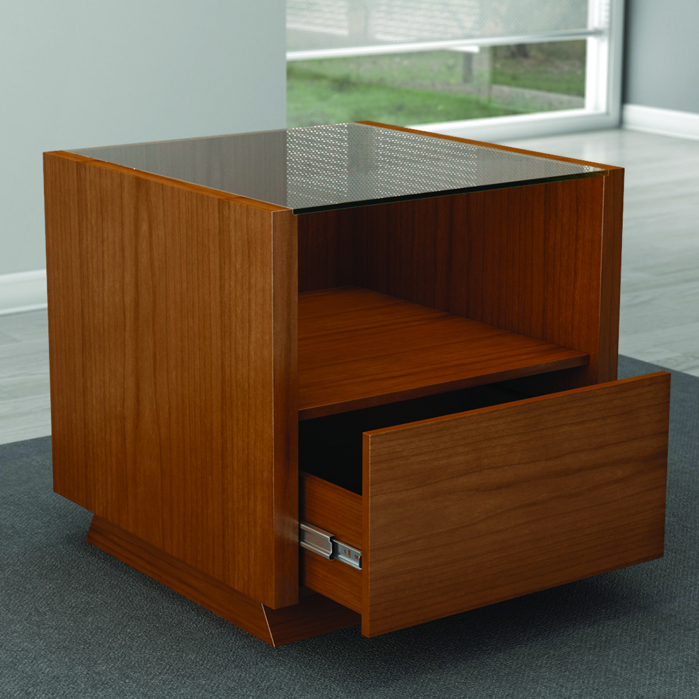 Furnitech Ft23cclc Sleek Contemporary End Table In Light