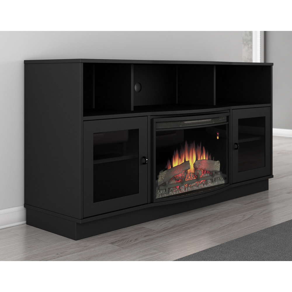 Furnitech Ft64fb Contemporary Tv Stand Console With