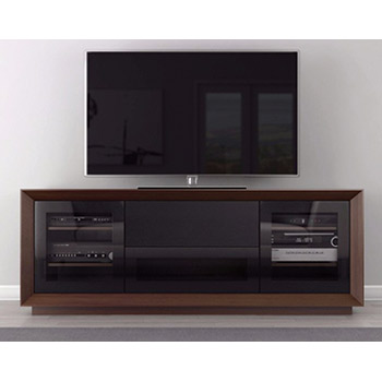 "Furnitech Signature Home FT70CF TV Stand Media Console up to 80"" TV'S in Walnut Finish."