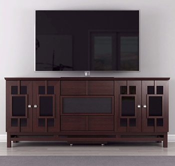 "Furnitech FT72ACW Contemporary TV Stand Media Console Upto 80"" TV'S In Wenge Finish."