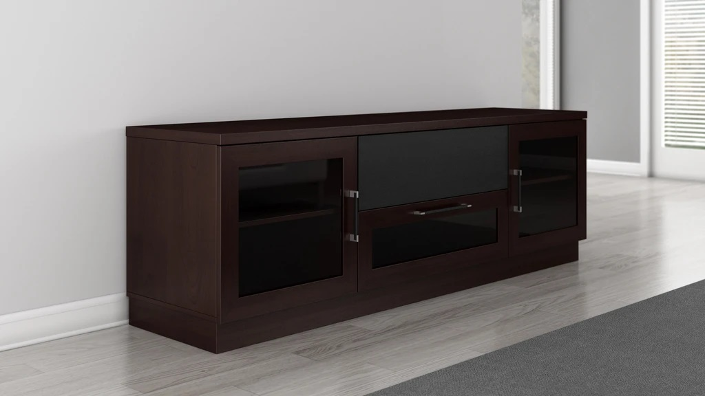 Furnitech Ft72ccw Contemporary Tv Stand Media Console Up