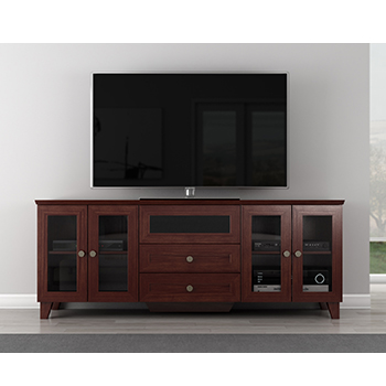 "Furnitech FT72SC TV Stand up to 70"" TVs. Furnitech-FT72SC"