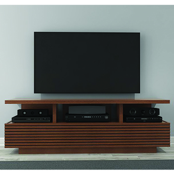 "Furnitech SAMBA Sleek Contemporary TV Stand Media Console up to 70"" TV'S in Autumn Cherry Finish."