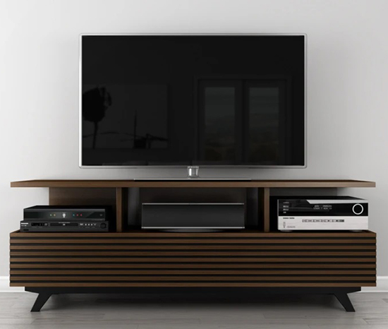 Furnitech TANGO-AV Mid-Century Modern TV Stand Media Console Up to 80