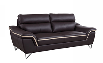 Global United 168 - Leather Match Sofa in Brown color.