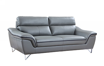 Global United 168 - Leather Match Sofa in Gray color.