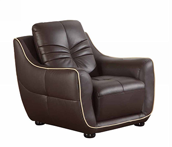 Global United 2088 - Leather Match Chair in Brown color.