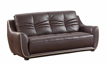 Global United 2088 - Leather Match Sofa in Brown color.