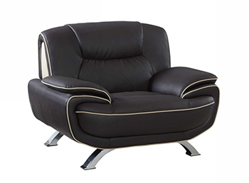 Global United 405 - Leather Match Chair in Brown color.