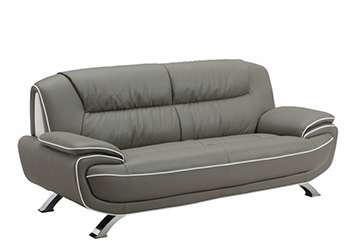 Global United 405 - Leather Match Sofa in Gray color.