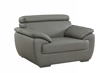 Global United 4571 - Leather Match Chair in Gray color.