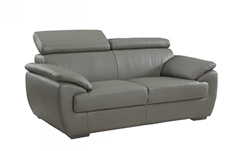 Global United 4571 - Leather Match Loveseat in Gray color.