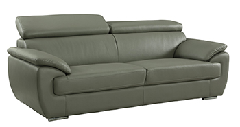 Global United 4571 - Leather Match Sofa in Gray color.