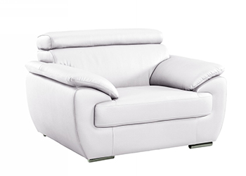 Global United 4571 - Leather Match Chair in White color.