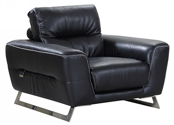 Global United 485 - Genuine Italian Leather Chair in Black color.