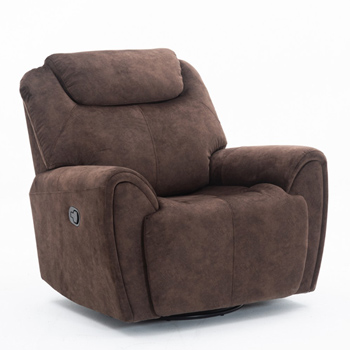 Global United Furniture 5008 Brown Velvet Fabric Chair.