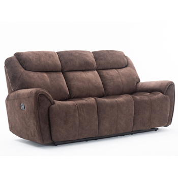 Global United Furniture 5008 Brown Velvet Fabric Sofa.