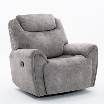 Global United Furniture 5008 Gray Velvet Fabric Chair.