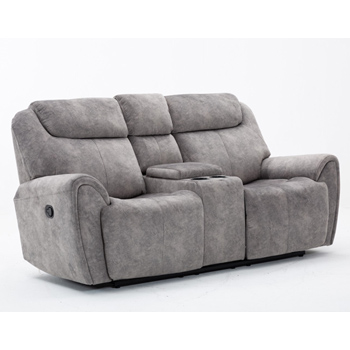 Global United Furniture 5008 Gray Velvet Fabric Loveseat.