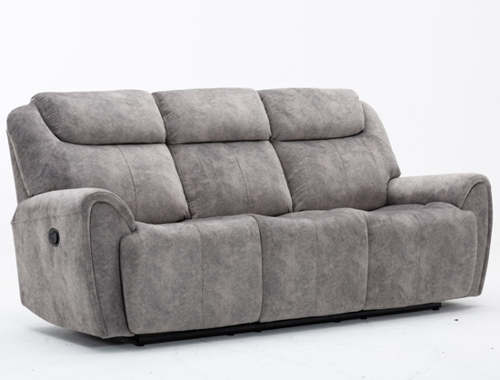 Global United Furniture 5008 Gray Velvet Fabric Sofa.
