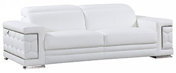 Global United 692 - Genuine Italian Leather Sofa in White color.