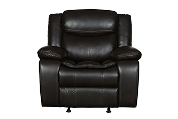 Global United 6967 - Leather Air Chair in Brown color.