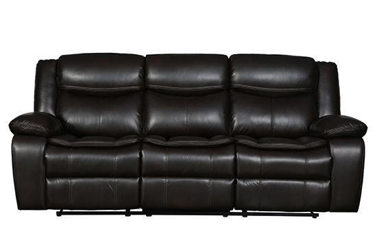 Global United 6967 - Leather Air Sofa in Brown color.