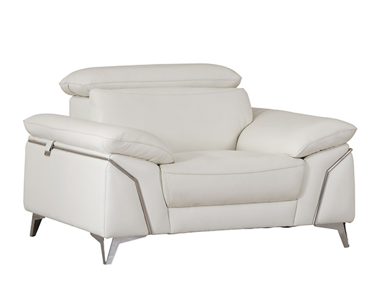Global United 727 - Genuine Italian Leather Chair in White color.