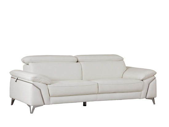 Global United 727 - Genuine Italian Leather Sofa in White color.