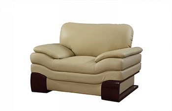 Global United 728 - Leather Match Chair in Beige color.