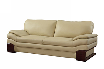 Global United 728 - Leather Match Sofa in Beige color.