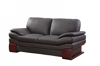 Global United 728 - Leather Match Loveseat in Brown color.