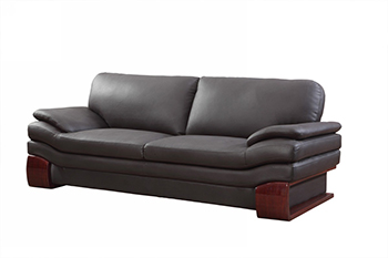 Global United 728 - Leather Match Sofa in Brown color.