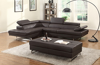 Global United 8136 - Sectional LAF in Brown Color.