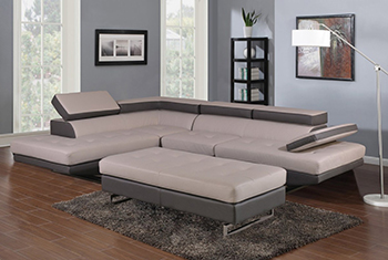 Global United 8136 - Sectional LAF in Two-Tone Color.