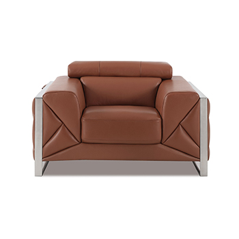 Global United 903 - Genuine Italian Leather Chair in Camel color.
