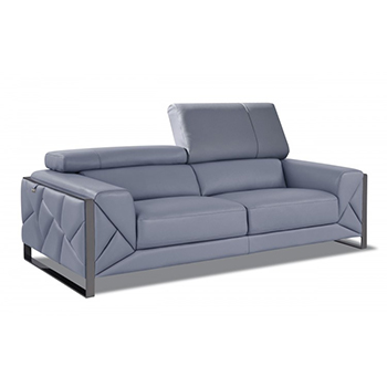 Global United 903 - Genuine Italian Leather Sofa in Light Blue color.