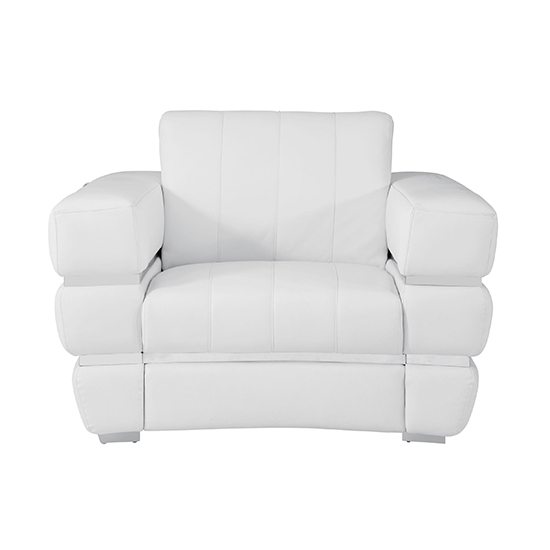 Global United 904 - Genuine Italian Leather Chair in White color.