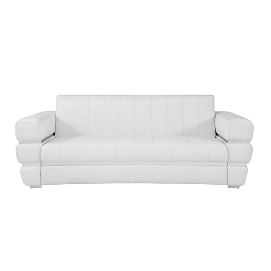 Global United 904 - Genuine Italian Leather Sofa in White color.