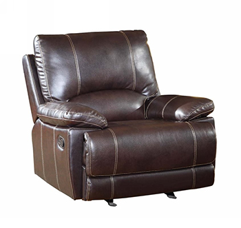 Global United 9345 - Leather Air Chair in Brown color.