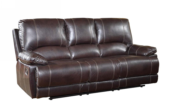 Global United 9345 - Leather Air Sofa in Brown color.